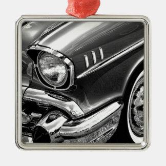 1957 Chevrolet Bel Air Black & White Metal Ornament
