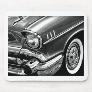 1957 Chevrolet Bel Air Black & White Mouse Pad
