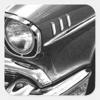 1957 Chevrolet Bel Air Black & White Square Sticker