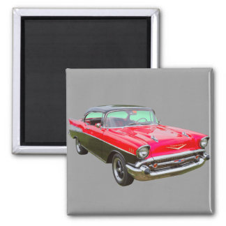 1957 Chevrolet Bel Air Classic Car Fridge Magnets