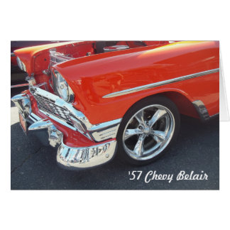 1957 Chevrolet Chevy Belair Greeting Card