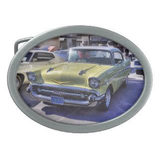 1957 CHEVROLET OVAL BELT BUCKLES