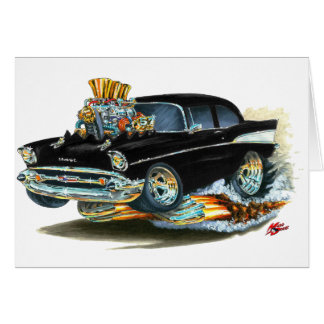 1957 Chevy 150-210 Black Car Card