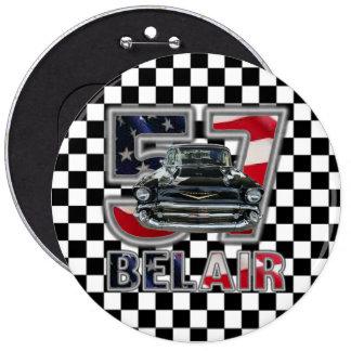 1957 Chevy Bel Air Button. 6 Cm Round Badge