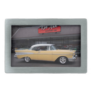 1957 Chevy Bel Air Chevrolet Classic Car Drive In Belt Buckles