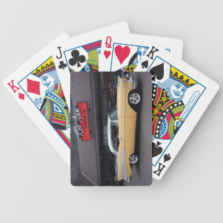 1957 Chevy Bel Air Chevrolet Classic Car Drive In Bicycle Playing Cards