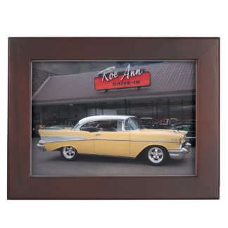 1957 Chevy Bel Air Chevrolet Classic Car Drive In Keepsake Box