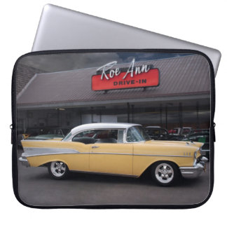 1957 Chevy Bel Air Chevrolet Classic Car Drive In Laptop Sleeve