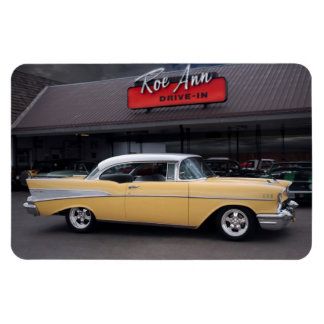 1957 Chevy Bel Air Chevrolet Classic Car Drive In Magnet