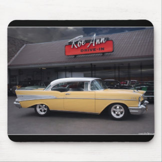 1957 Chevy Bel Air Chevrolet Classic Car Drive In Mouse Pad