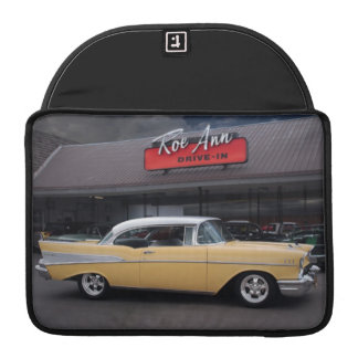 1957 Chevy Bel Air Chevrolet Classic Car Drive In Sleeve For MacBook Pro