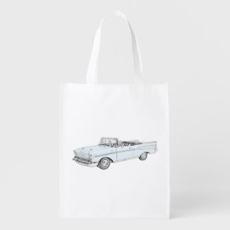 1957 Chevy Bel Air Convertible Reusable Grocery Bag