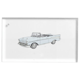 1957 Chevy Bel Air Convertible Table Number Holder