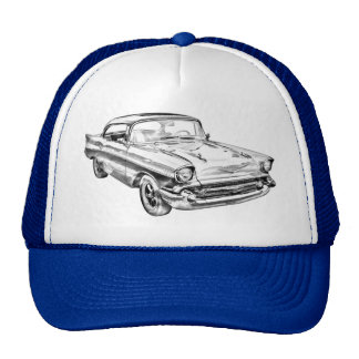 1957 Chevy Bel Air Illustration Cap