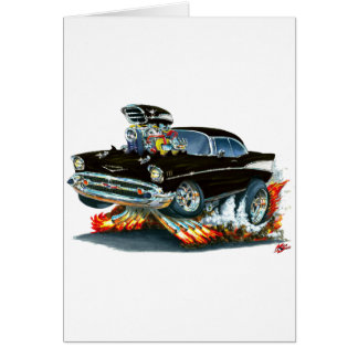 1957 Chevy Belair Black Car Card