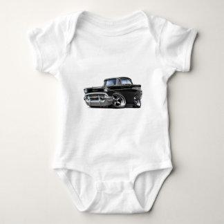 1957 Chevy Belair Black Hot Rod Baby Bodysuit