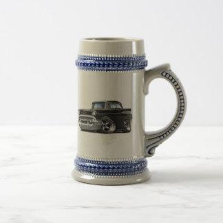 1957 Chevy Belair Black Hot Rod Beer Stein