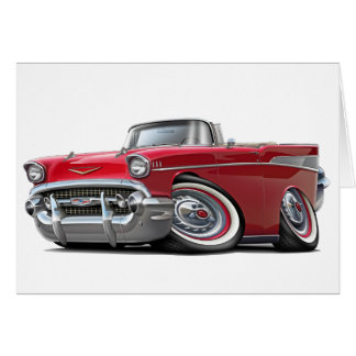 1957 Chevy Belair Red Convertible Card
