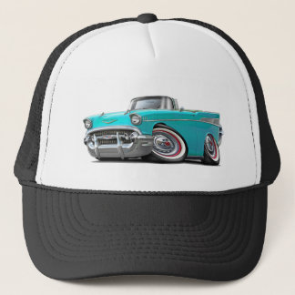 1957 Chevy Belair Turquoise Convertible Trucker Hat