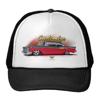 1957 chevy hot rod custom hat