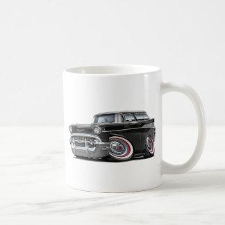1957 Chevy Nomad Black Car Coffee Mug