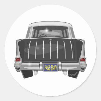 1957 Chevy Nomad Classic Round Sticker