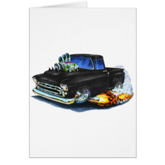 1957 Chevy Pickup Black Card