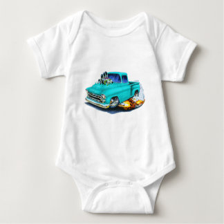 1957 Chevy Pickup Turquoise Baby Bodysuit