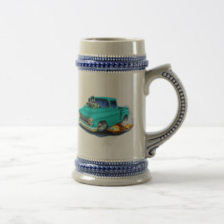 1957 Chevy Pickup Turquoise Beer Stein