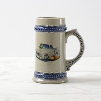 1957 Chevy Pickup White Beer Stein