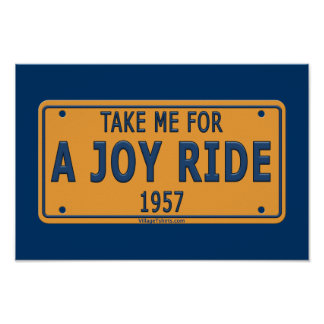 1957 Joy Ride Car Poster