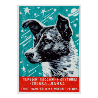 1957 Laika the Space Dog Posters