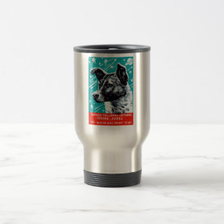 1957 Laika the Space Dog Travel Mug