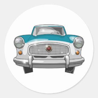 1957 Metropolitan Front Classic Round Sticker