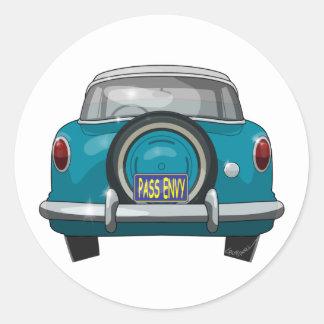 1957 Metropolitan Rear Classic Round Sticker