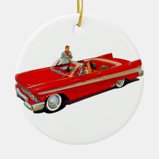 1957 Plymouth Belvedere Convertible Coupe Ceramic Ornament