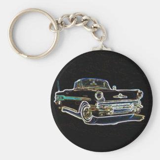 1957 Pontiac Basic Round Button Key Ring