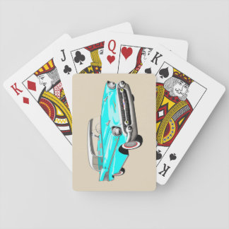 1957 Shoebox Playing Cards in Aqua Blue and White