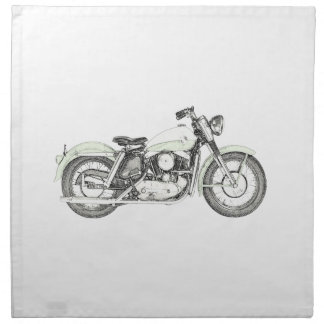 1957 Sportster Motorcycle Napkin