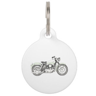 1957 Sportster Motorcycle Pet Tag
