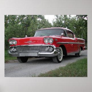 1958 Chevrolet Impala Poster