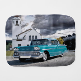 1958 Chevy Bel Air Belair Chevrolet Classic Car Burp Cloth