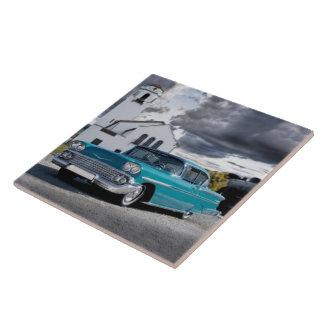 1958 Chevy Bel Air Belair Chevrolet Classic Car Tile