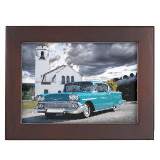 1958 Chevy Bel Air Classic Car Train Depot Keepsake Box