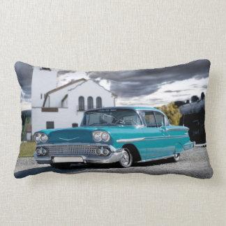 1958 Chevy Bel Air Classic Car Train Depot Lumbar Cushion