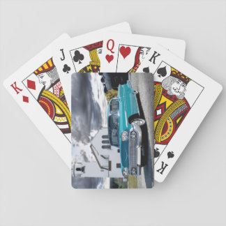 1958 Chevy Bel Air Classic Car Train Depot Playing Cards