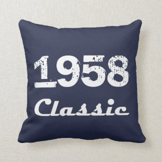 1958 Classic 60th Birthday Celebration Cushion