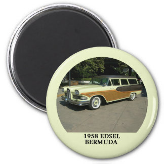 1958 Edsel Bermuda Station Wagon 6 Cm Round Magnet