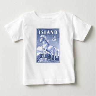 1958 Icelandic Horse Postage Stamp Baby T-Shirt