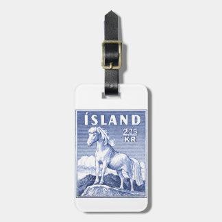 1958 Icelandic Horse Postage Stamp Bag Tag
